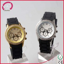 high quality japan movt watch 38mm face luxury man watch with silicone band