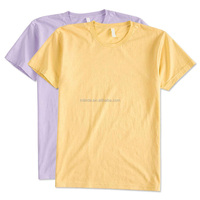 Two Tone T-shirt Cheap Wholesale 100% Combed Ringspun Cotton American Apparel Power Washed Overseas T Shirts For Man