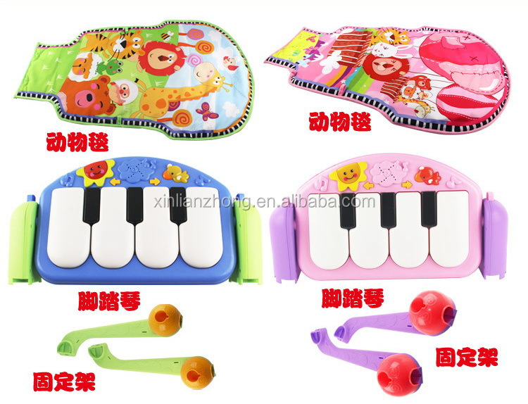 Hot Sale Kick&Play baby play mat with Piano keyboard and gym