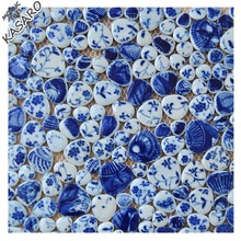 Blue pebble ceramic mosaic swimming pool tile