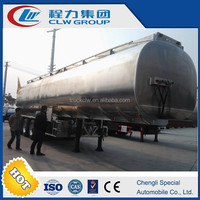custom 38cbm 3axles chemical liquid tank truck/aluminum fuel transport trailers