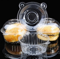 100pcs/lot For Clear Plastic Single Cupcake Cake Case Muffin Dome Holder Box Container