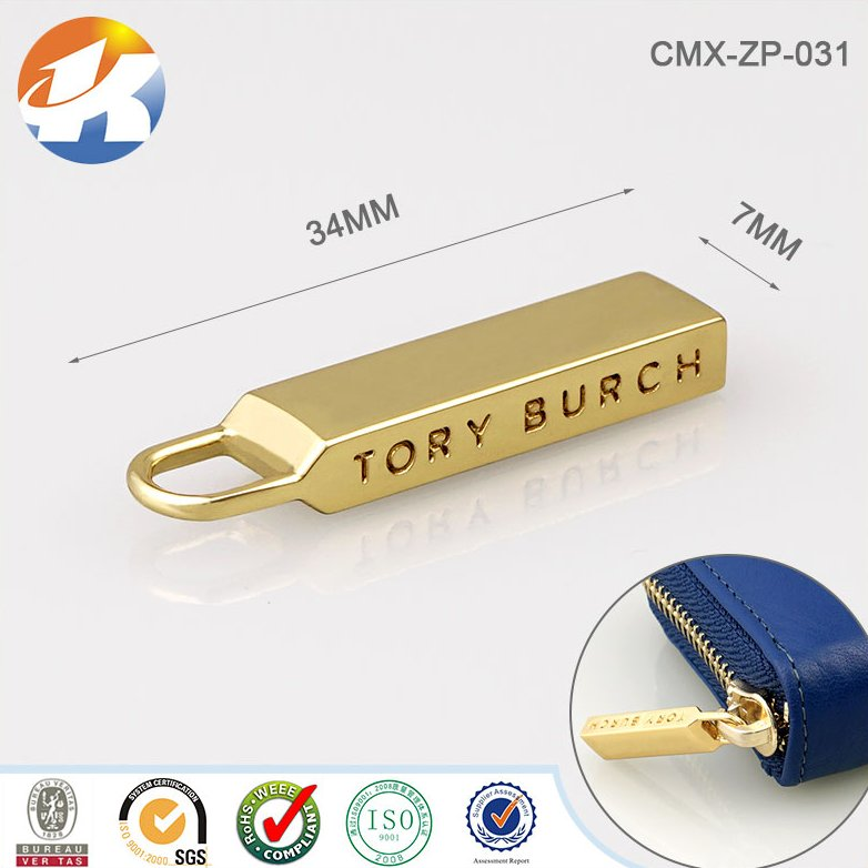 Clutch Bags/Purse/Handbags Accessories Custom Metal Zipper Puller