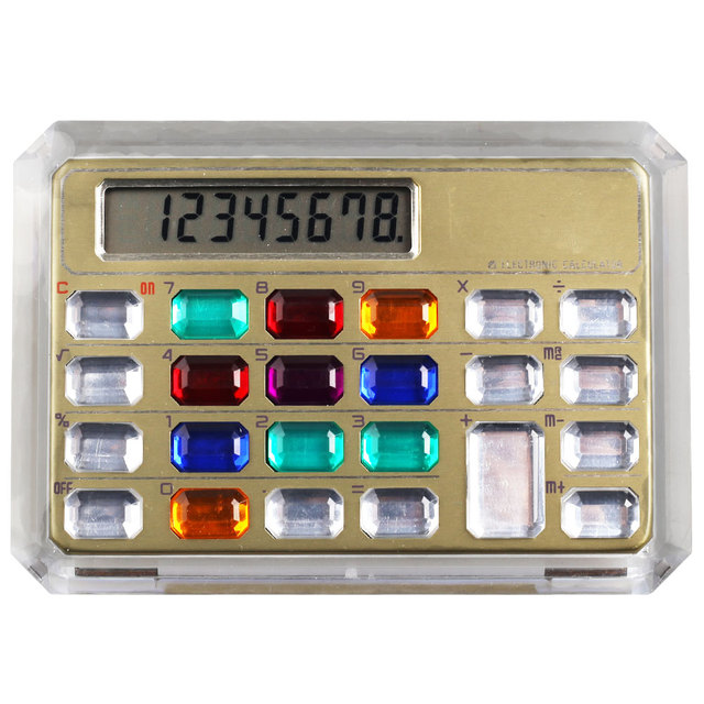 Promotional Gifts Crystal Button Calculator with 8 Digits
