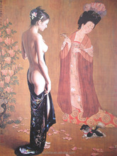 2017 NEWST 3 D sex chinese girl nude painting classic chinese nude paintings