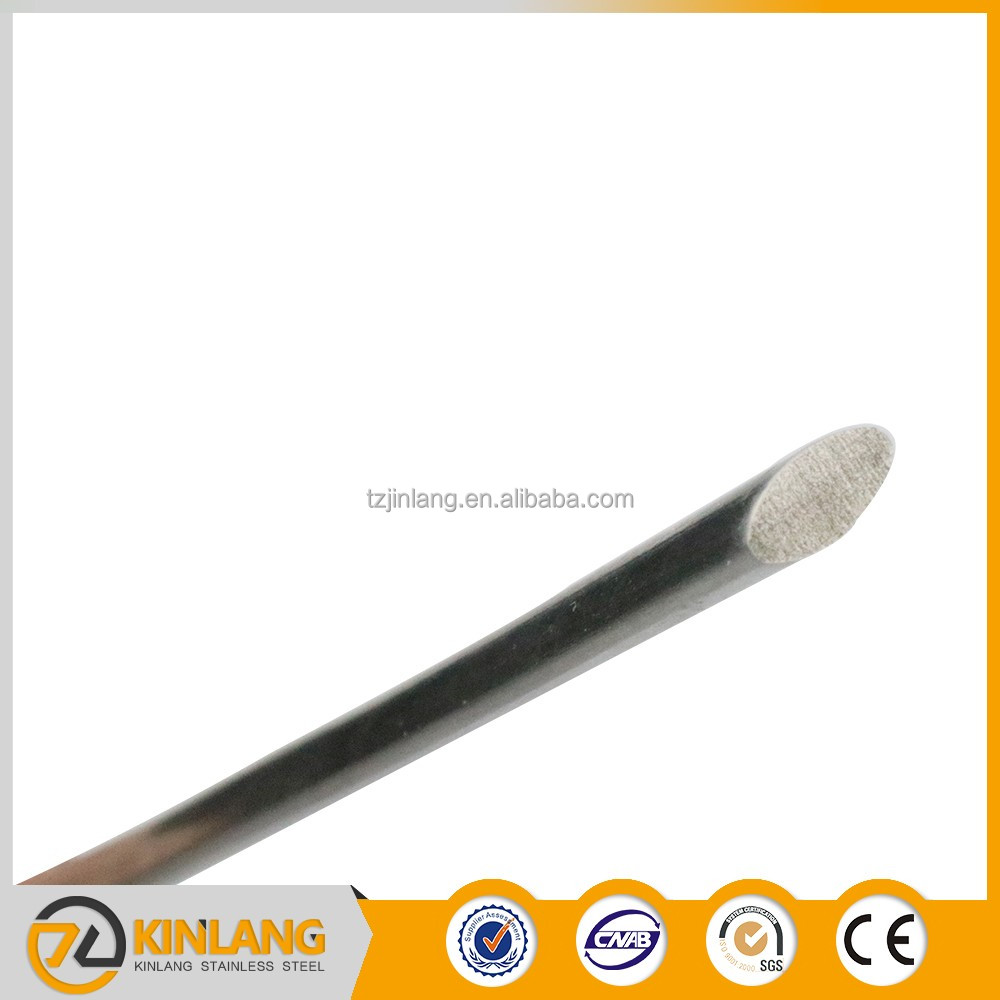 SGS cold drawn stainless steel 201 bright oval bar