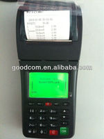 Portable gsm pos terminal , wireless gprs sms pos printer for online orders
