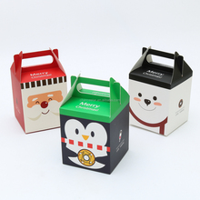 Custom design paper folding Chirstmas apple packaging boxes