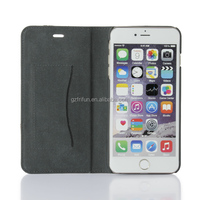 PU leather and pc back cover mobile phone case for iphone6 5.5 inch