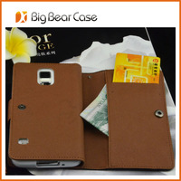 high quality leather flip purse case for samsung galaxy s5