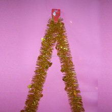 Wholesale high quality white christmas tinsel garland