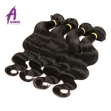 Unprocessed Raw Long lasting 100 percent indian Temple remy human color hair For black women
