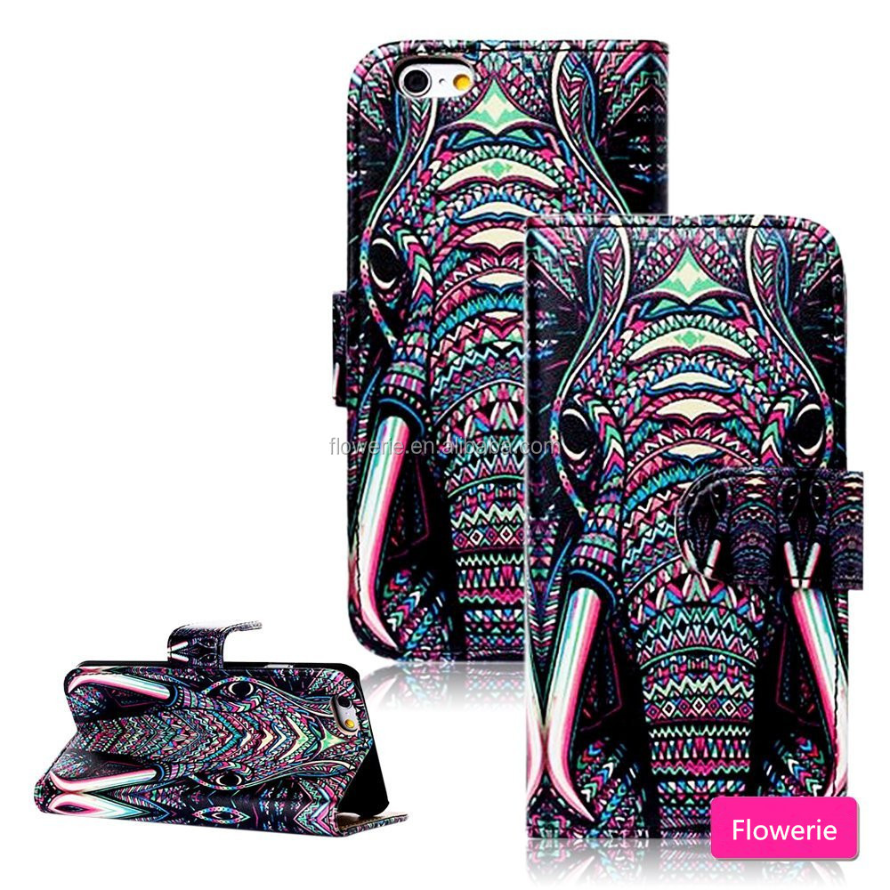 FL2544 Animal Premium PU Leather Flip Magnet Wallet Style Stand Cover Case Protector Fit For iphone 6