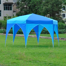 Garden outdoor steel folding pop up hexagonal gazebo