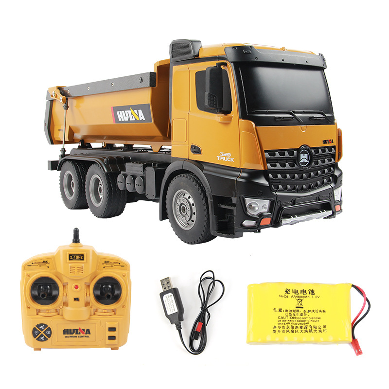Huina 1573 RTR 2.4GHz <strong>10</strong> channel 1:14 <strong>Remote</strong> Control toy RC Dump Truck Engineering Vehicle toy LED Light RC Toys