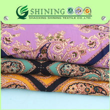 a sense of three-dimensional discharge print viscose fabric