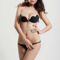 popular front open, invisible without straps thick cup sexy lady bra