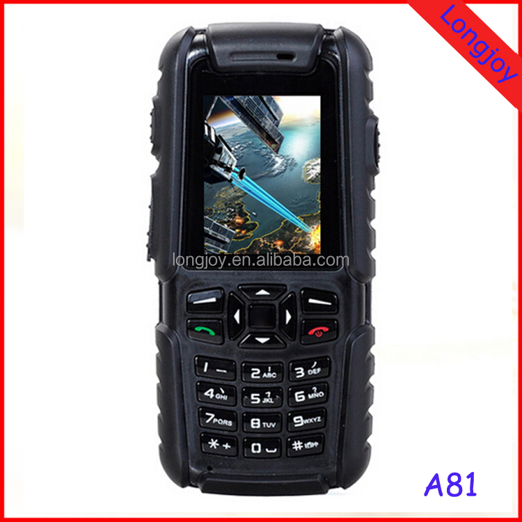 Rugged Phone A81 IP67 Waterproof Dustproof Shockproof Rugged Phone Outdoor Mobile Phone With Dual SIM 2.0