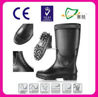 CE certificate pvc rain boots and Industry heavy duty safety boots for men