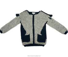 Baby mädchen mantel pullover/jacquard kurze strickjacke winter wolle mantel pullover
