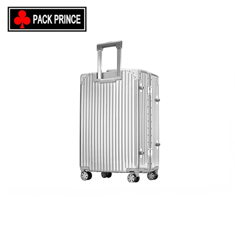 China luggage factory supply metal aluminum luggage bags cases/trolley suitcases luggage