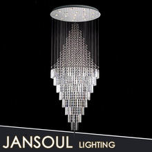 Jansoul lighting factory fancy modern crystal chandelier top k9 crystal ceiling light for hotel