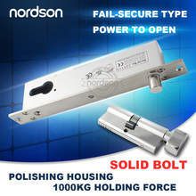 Fail secure sturdiness narrow door electric bolt with cylinder and emergency key NI-600T