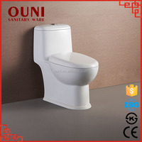 ON-823 New type convenient siphonic ceramic toilet white and black sanitary ware