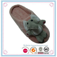Cute elephant indoor animal slippers for adult
