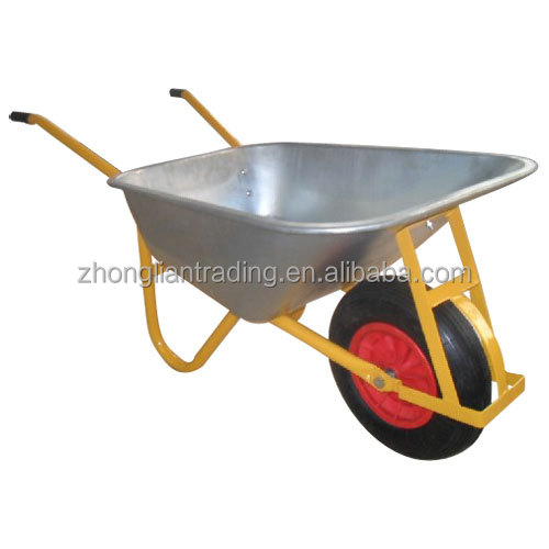China manufacturer handling tools antique garden concrete wheelbarrow