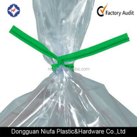 Single Wire PE Flat Metallic Plastic Twist Tie Used for Closing Bread Bags