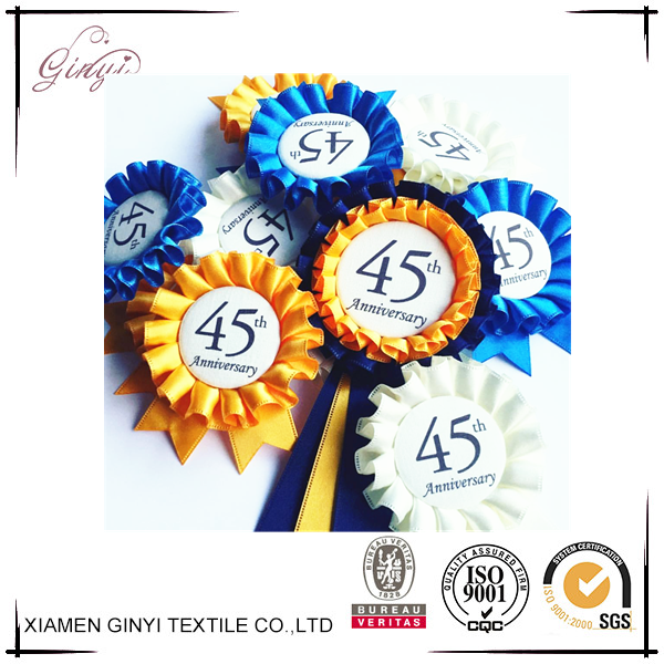 Delicate polyester grid printed wholesale custom award ribbons