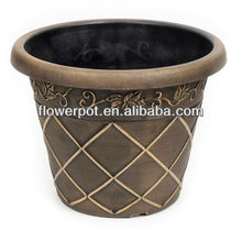 leaf and lattice plastic flower pot CF series