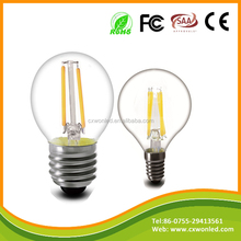 led egg shape lamp outdoor led mini vintage light bulb g45 e27 E14 2w 4w warm white filament lamp