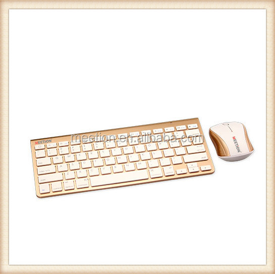 Standard wireless Gold color bluetooth keyboard and mouse