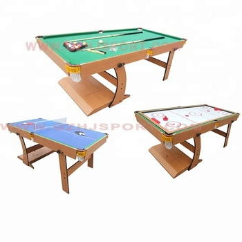 Fold Up And Family Sports Game Table: Billiard Pool Table,Air Hockey Table,