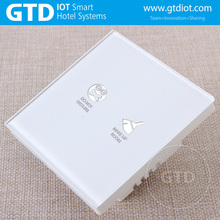 hotel doorbell touch panel switch With Do Not Disturb And Clean Up panel, indoor control switch 220V