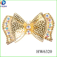 HW6320 shoe buckles plating gold with butterfly for women