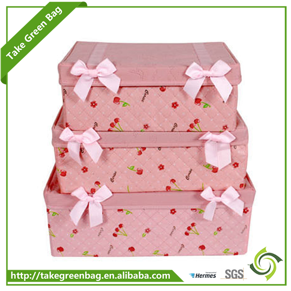 Eco-friendly recycled custom design colored storage boxes with drawer