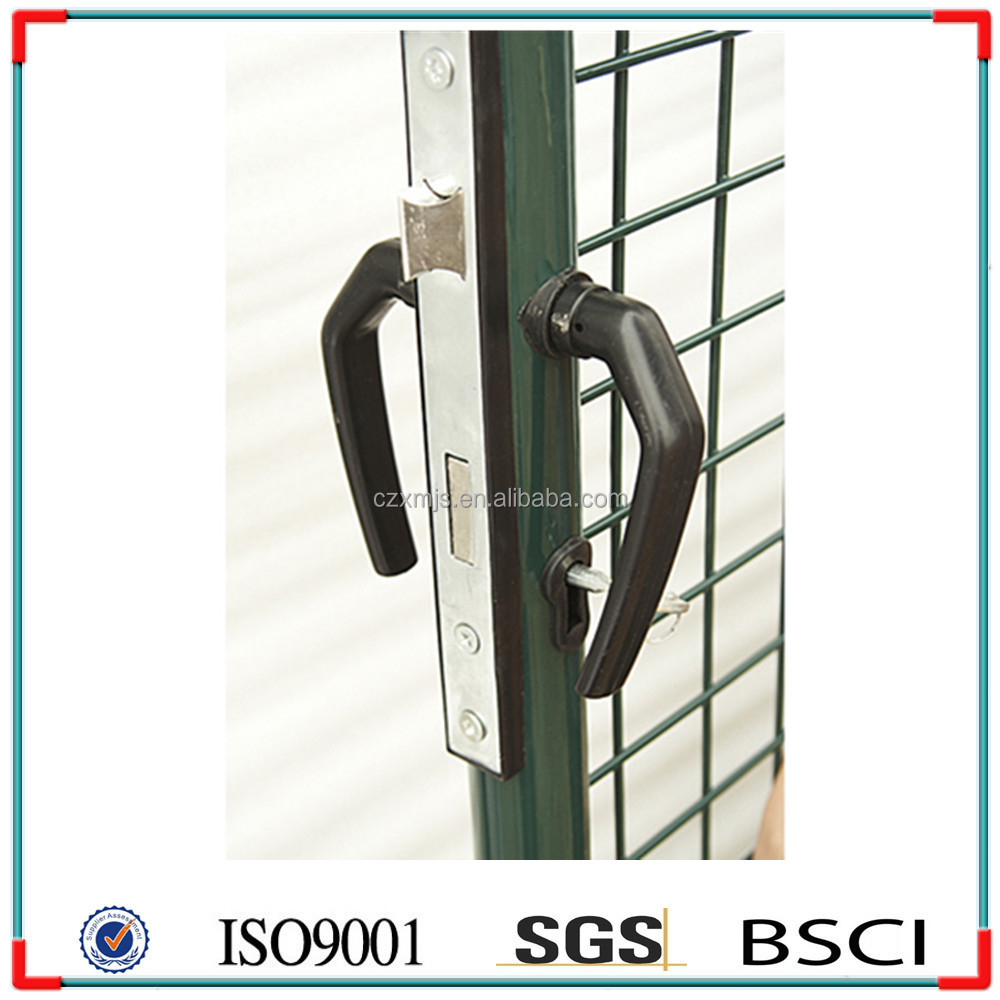 Xinming Factory Green Color Garden Fencing Gate With Lock