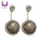 AIDAILA Discount Retro Jewelry Double Side Natural Stone Earrings