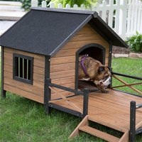 China manufacturer high quality Outdoor Solid Wooden Dog Kennel