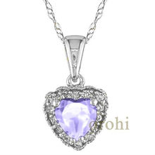 tanzanite jewelry,heart tanzanite pendant,18 carat gold jewewlry,nice diamond pendant HP129-TZ-W