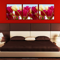 Home Decor Custom Modern Canvas Oil Wall Picture Landscape House Painting living room flowers Mofang