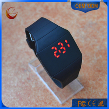 Fashion red light square face Silicone wristband digital led watch