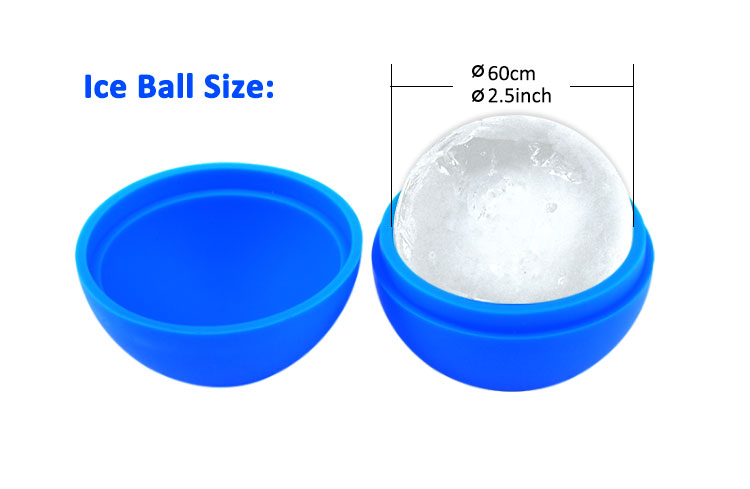 2018 World Cup Football Shape Sphere Silicone Ice Ball Maker Mold
