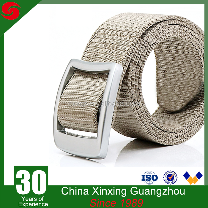 Outdoor Cotton PP nylon Knitted Tactical Military Belt with metal buckle