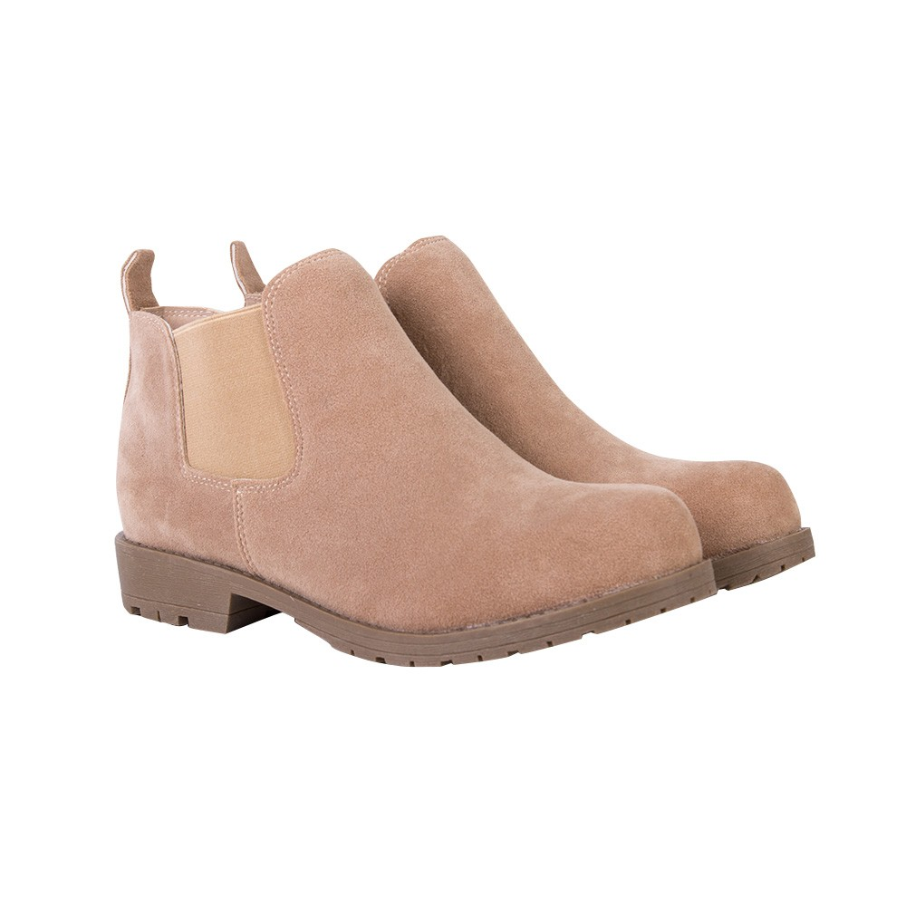 CX3NS-07 women's casual chelsea boots with elastic panel
