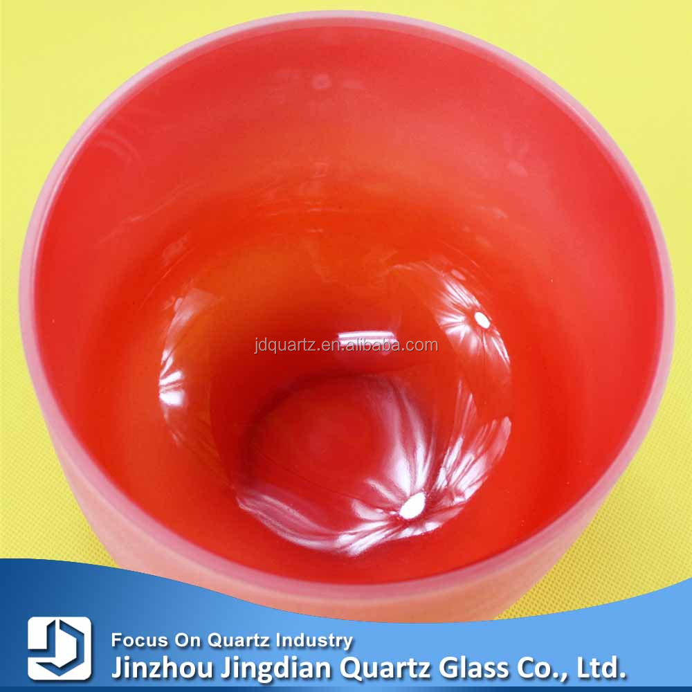 Hot <strong>sale</strong> <strong>10</strong> inch <strong>C</strong> root chakra red color crystal singing bowl made in China