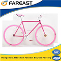 New style pink 700C fixed gear road bike bicycle for wholesale
